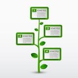 Plantilla abstracta del árbol del verde del eco del progreso Fotos de archivo libres de regalías