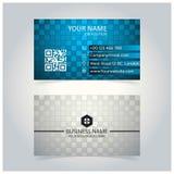 Plantilla abstracta del azul y de Gray Glowing Business Card ilustración del vector