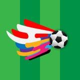 Plantilla abstracta del backgound del fútbol Imagen de archivo