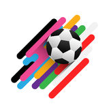 Plantilla abstracta del backgound del fútbol Imágenes de archivo libres de regalías