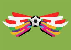 Plantilla abstracta del backgound del fútbol Foto de archivo libre de regalías