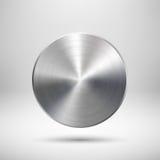 Plantilla abstracta del botón del círculo Fotografía de archivo libre de regalías