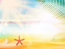 Plantilla abstracta del cartel de la opinión de la playa libre illustration