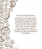 Plantilla abstracta del diseño con los círculos decorativos. ilustración del vector