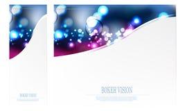 Plantilla abstracta del diseño de la selección de la visión del bokeh del vector Foto de archivo libre de regalías