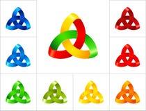Plantilla abstracta del diseño del logotipo Fotos de archivo