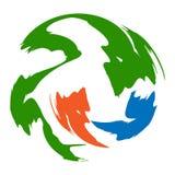 Plantilla abstracta del diseño del vector del símbolo del logotipo de la muestra del icono del círculo Imágenes de archivo libres de regalías