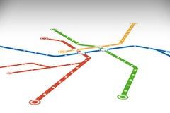 Plantilla abstracta del diseño del mapa del metro o del subterráneo ilustración del vector
