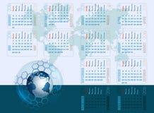 Plantilla abstracta del diseño para el calendario 2016 Imagen de archivo libre de regalías