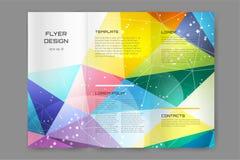 Plantilla abstracta del diseño del folleto o del aviador Imagenes de archivo