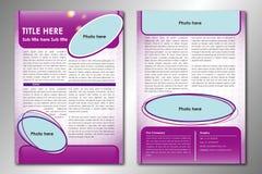 Plantilla abstracta del folleto Fotos de archivo libres de regalías