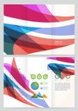 Plantilla abstracta del folleto del vector de onda Foto de archivo libre de regalías