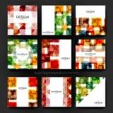 Plantilla abstracta del folleto del vector del fondo Disposición del aviador Imagen de archivo libre de regalías