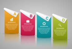 Plantilla abstracta del infographics de las opciones del negocio 3D stock de ilustración
