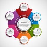 Plantilla abstracta del infographics de las opciones Infographics para la bandera de las presentaciones o de la información del n stock de ilustración
