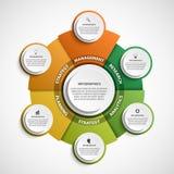 Plantilla abstracta del infographics de las opciones Infographics para la bandera de las presentaciones o de la información del n ilustración del vector