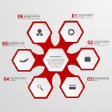 Plantilla abstracta del infographics del hexágono Foto de archivo