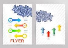 Plantilla abstracta del vector del diseño del aviador del folleto stock de ilustración