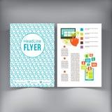 Plantilla abstracta del vector del diseño del aviador del folleto Imagen de archivo