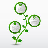 Plantilla abstracta del verde del eco del progreso Fotografía de archivo