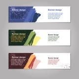 Plantilla abstracta del web de la bandera del diseño geométrico del vector Imágenes de archivo libres de regalías