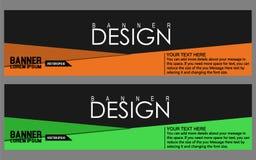 Plantilla abstracta del web de la bandera del diseño geométrico del vector Fotografía de archivo