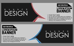 Plantilla abstracta del web de la bandera del diseño geométrico del vector imagen de archivo