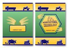 Plantilla agrícola del diseño de la cubierta de la tecnología libre illustration