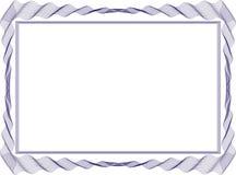 Plantilla aislada del fondo del marco para el certificado fotografía de archivo libre de regalías