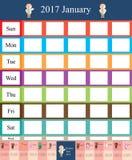 Plantilla animal del año del mes del zodiaco del calendario ilustración del vector