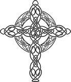 Plantilla anudada de la cruz céltica Fotos de archivo libres de regalías
