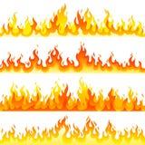Plantilla ardiente roja del vector del diseño determinado del logotipo de la llama del fuego libre illustration
