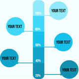 Plantilla azul de la presentación de la gota Imagen de archivo libre de regalías