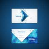 Plantilla azul de la tarjeta de visita de la flecha Imagen de archivo libre de regalías
