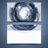 Plantilla azul de la tarjeta de visita. Fondo abstracto  Imagen de archivo
