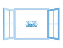 Plantilla azul de la ventana del vector libre illustration