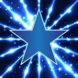 Plantilla azul del diseño de la estrella ilustración del vector