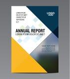 Plantilla azul del diseño del aviador del informe anual del folleto Fotografía de archivo libre de regalías