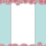 Plantilla azul del diseño del marco con el lugar para el texto Fotografía de archivo