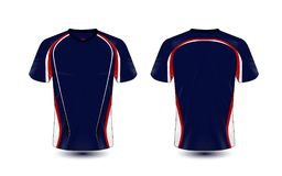 Plantilla azul y roja del diseño de la camiseta del e-deporte de la disposición libre illustration