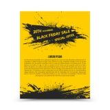 Plantilla Black Friday del diseño del aviador del vector Imagen de archivo libre de regalías
