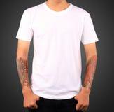 Plantilla blanca de la camiseta imagen de archivo libre de regalías