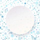 Plantilla blanca de la etiqueta del círculo de la Feliz Año Nuevo de la Feliz Navidad para el cartel, bandera, tarjeta, aviador,  stock de ilustración