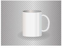 Plantilla blanca de la maqueta de la taza para la identidad corporativa Fotos de archivo libres de regalías