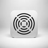 Plantilla blanca del icono del App del extracto Imagenes de archivo