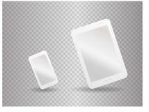 Plantilla blanca del vector de la maqueta para la identidad corporativa con smatphone y la tableta Fotos de archivo libres de regalías