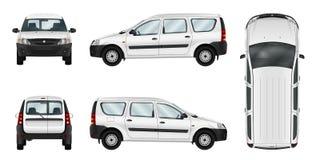 Plantilla blanca del vector del coche de entrega Imagen de archivo
