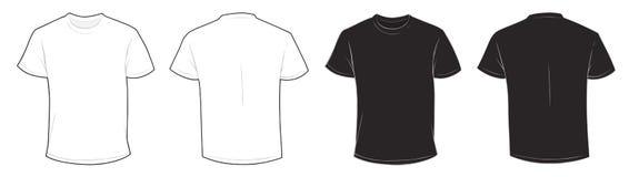 Plantilla blanco y negro de la camiseta Foto de archivo