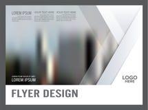 Plantilla blanco y negro del diseño de la disposición del folleto anual ilustración del vector