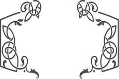Plantilla céltica del marco del estilo del ornamento Fotos de archivo libres de regalías